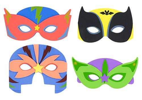 Henbrandt 24x Kinder Schaum Superhero Masken - Fasching / Party Gefälligkeiten / Kinder Kostüme