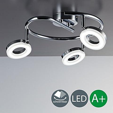 LED ceiling light ceiling lamp GU10 3 x 4 Watt 330 lumen 230 volts adjustable ceiling luminairies dome lamp wall light