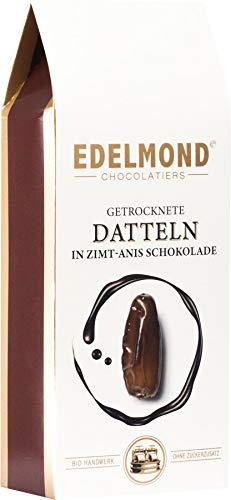 Rohkost-Dattel umhüllt von leckerer Gewürzschokolade. Bio und Fair von Edelmond