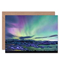 Wee Blue Coo CARD GREETING AURORA BOREALIS NORTHERN LIGHTS GIFT CL1681