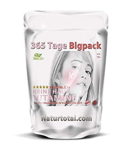 Natürlich reine Haut ohne Pickel: für 365 Tage hochdosiert gegen Pickel, Akne, Mitesser und unreine Haut. Kann von Frauen und Männern eingesetzt werden.