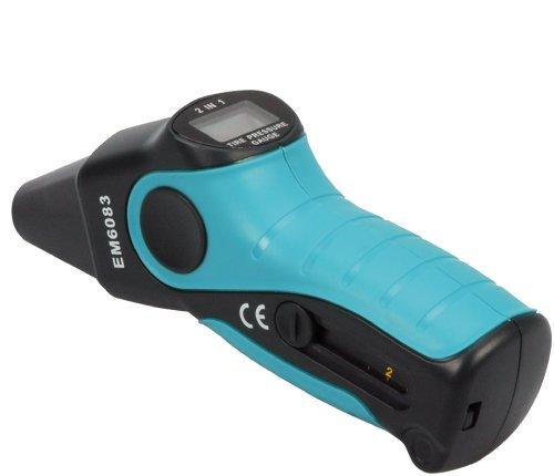Cartrend 50204 Manómetro digital con medidor de silueta de neumáticos