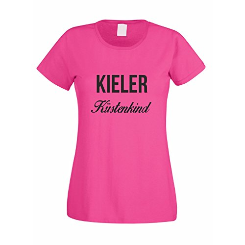 Damen T-Shirt Kieler Küstenkind Pink