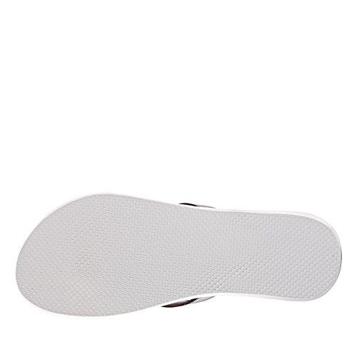 adidas Damen Eezay Striped W Zehentrenner, Clgrey/Ftwwht/Cblack Grigio (Gritra/Corneb/Corsen)