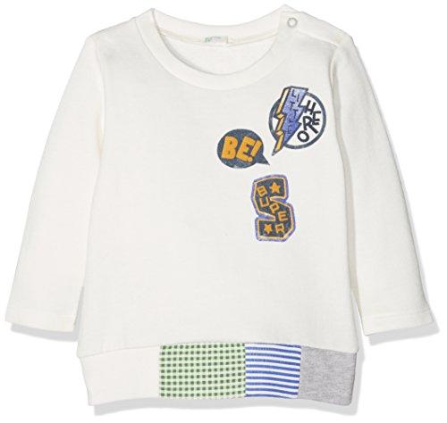 United Colors of Benetton Cotton Blend Longsleeve Sweater Sudadera, Blanco (White 074),...