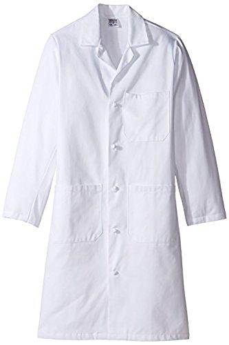 worklon 437x s sanforized Baumwolle Unisex Lab Coat mit Tuch Knoten, Button, 39–1/5,1cm Länge, XS, weiß (Knoten-knopf Tuch)