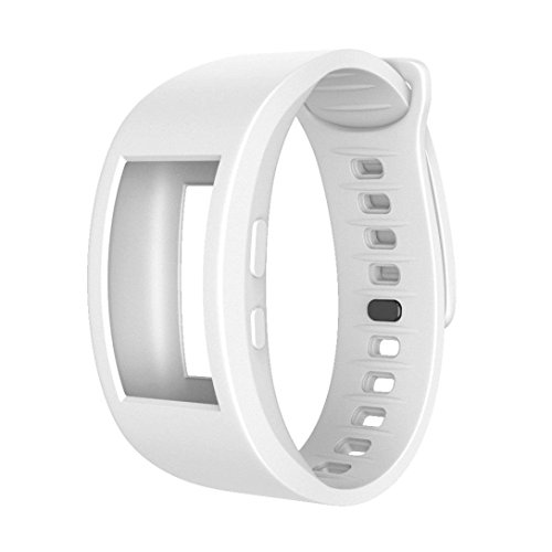 Y56 Groß Armband für Samsung Gear Fit 2 / Gear Fit 2 Pro Sport Soft Silikon Wirstband Ersatzband (Weiß) - X Gear Uhrenarmbänder Große Für S