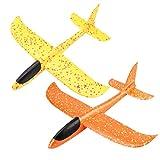 STOBOK 2 stücke 48 cm Doppelöffnung Kinder Spielzeug Hand Werfen Flugzeuge Zyklon Segelflugzeuge Spaß Spielzeug Party Favors für Kinder
