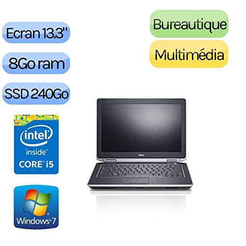 'Dell Latitude E6330-Windows 7-i58GB 240GB SSD-13.3-Webcam-Computer Portatile PC
