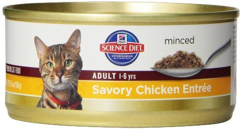 hills-science-diet-adult-optimal-care-savory-chicken-entree-minced-cat-food-55-ounce-can-24-pack-by-
