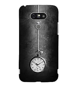 FUSON Hanging Watch Time 3D Hard Polycarbonate Designer Back Case Cover for LG G5 :: LG G5 Dual H860N :: LG G5 Speed H858 H850 VS987 H820 LS992 H830 US992