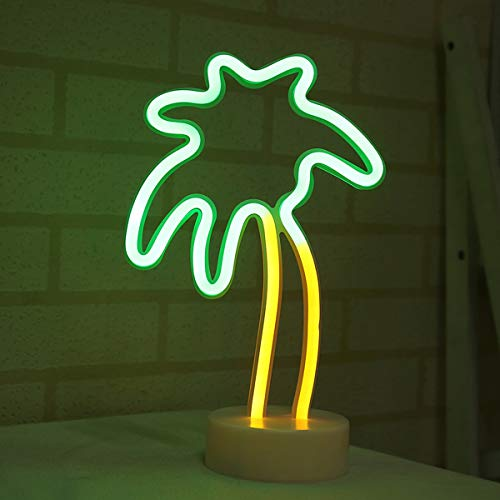 LED Dekoration Lade Neon Moon Lamp Urlaub Licht Kokosnuss/Kaktus/Weihnachtsbaum/Ananas LED Nachtlicht (Color : Coconut) ()