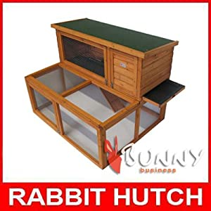 4ft Drop Hutch and Run Rabbit / Guinea hutches runs BB-48-DRH by BUNNY BUSINESS