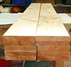 Larch wood boards 1.5m long x 145mm x 21mm four way planed planks