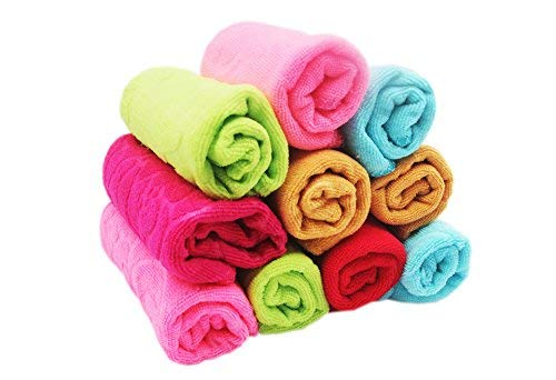 Sofex Cotton Soft Touch Face Hanky, Towels (10x10-inch, Multicolour) - Set of 10
