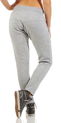 Cbkttrade Boxusa Pantalon de sport bouffant pour femme Taille: S, M, L, XL Multicolore - Baggy Hellgrau