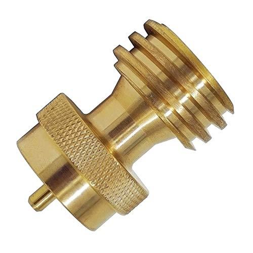 Yardwe 2pcs 1lb Propan Adapter Erdgas zu Propan Adapter 1lb zu 20lb Propan Nachfülladapter für 1lb Propantanks Gas Stahlflasche oder Grill Propan Konverter -
