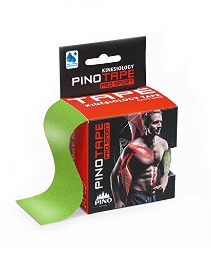Pinotape Pro Sport kinesiologisches Tape verschiedene Farben und Designs 5 cm x 5 m hautfreundlich (neon grün)