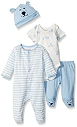 The Childrens Place Boys 4-Piece Thermal Set, White, 6-9 Months