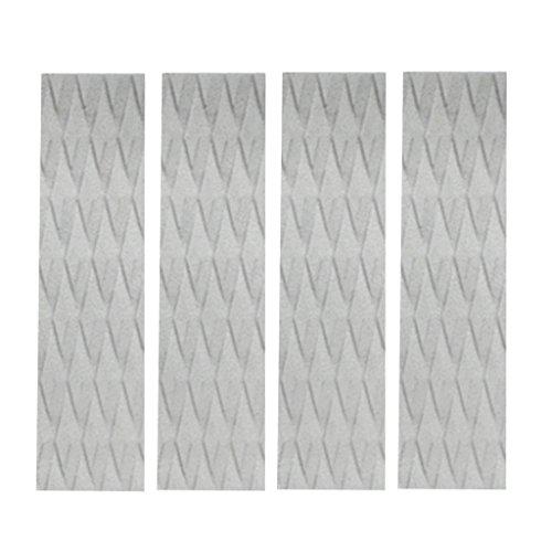 Baoblaze Surfboard Traction Pad Anti-Rutsch Surfboard Footpad (31 x 8 x 0.5 cm) - Grau 4 Stück