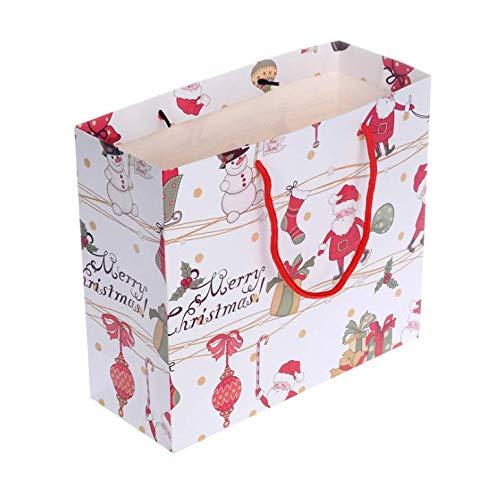 PANGUN 10Pcs Weihnachts Geschenk Tasche Cartoon Geschenk Tasche Weihnachten Bonbontüte Geschenk Tasche Geschenk Beutel Papier Tasche Tasche-Mittel
