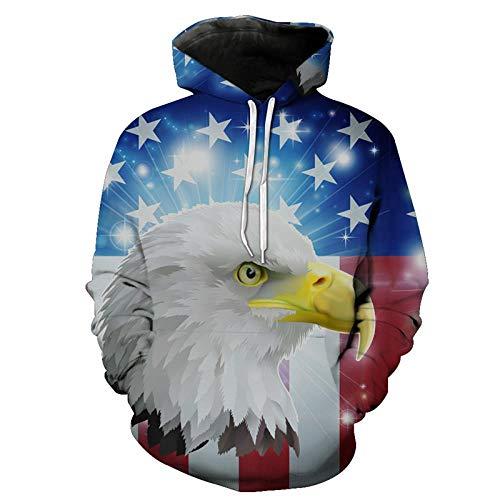 CHAOXIRT Conmotion Star American Eagle Kapuzenpullover Neutral Hoodies Eur Size -