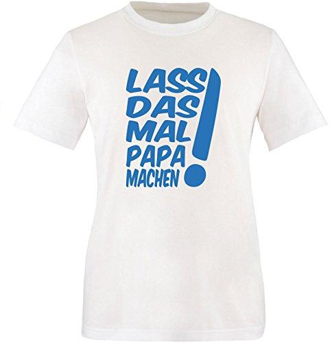 EZYshirt® Lass das mal den Papa machen Herren Rundhals T-Shirt Weiss/Blau
