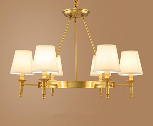 MULANG American Copper Kronleuchter, Living Room Lights, europäischen minimalistischen Kronleuchter, modern bedroom Restaurant Lighting, Persönlichkeit dekorativ Hängeleuchte , (Minimalistischen Chic Kostüm)