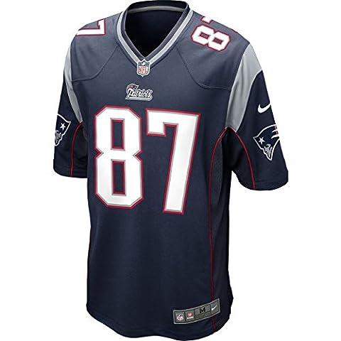 Fußball-Trikot Nike NFL New England Patriots, Rob Gronkowski, American Football, Blau Medium marineblau