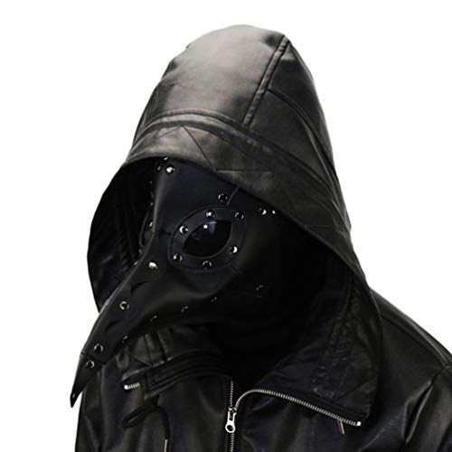 Pest-Doktor-Vogel-Maske mit Langer Nase, Halloween-Dekor-Maske, Pu-Leder-Harz-Justierbarer - Kulturell Passenden Kostüm