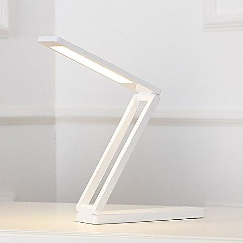 Lampe LED Tactile Lampe de bureau LED avec fonction de protection des yeux, peut être obscurci, USB rechargeable, lampe de lecture, super brillant (36 LED), blanc / jaune lumière réglable