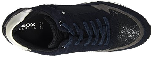 Geox D Nydame A, Sneakers Hautes Femme Blau (BLACK/NAVYC4429)