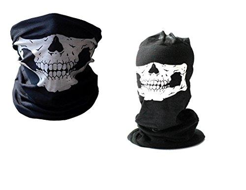 7XCollection Set Winter und Summer Edition facemask Loop Schlauchschal Schädel Totenkopf Fleece