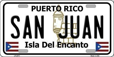 Smart Blonde LP-2874 San Juan Puerto Rico Metal Novelty License Plate by Smart Blonde