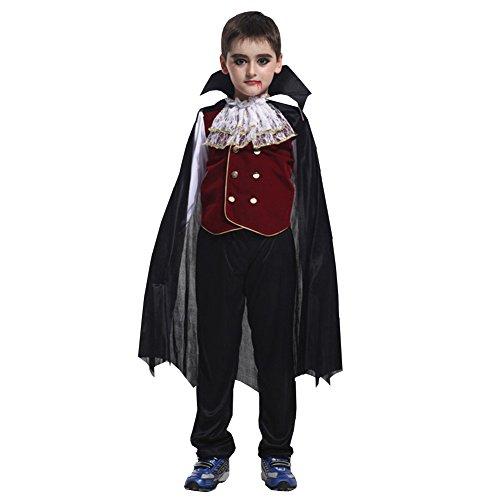 LPATTERN Jungen Vampir Prinz Kostüm Dracula für Halloween (Kind Prinz Kostüm)
