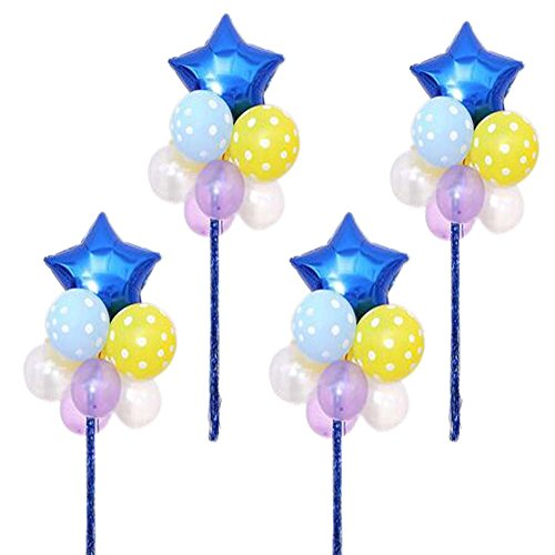 Koala Superstore Geburtstagsfeier Ballons Arrange in Gruppen Set 4 Latex Hochzeit Star Herzförmig