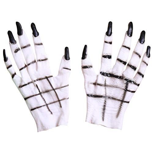 Halloween Handschuhe Horror weiblich Ghost Claw Kostümhandschuh Cosplay-Handschuhe Weiße Ghost-Handschuhe Dress Up Party