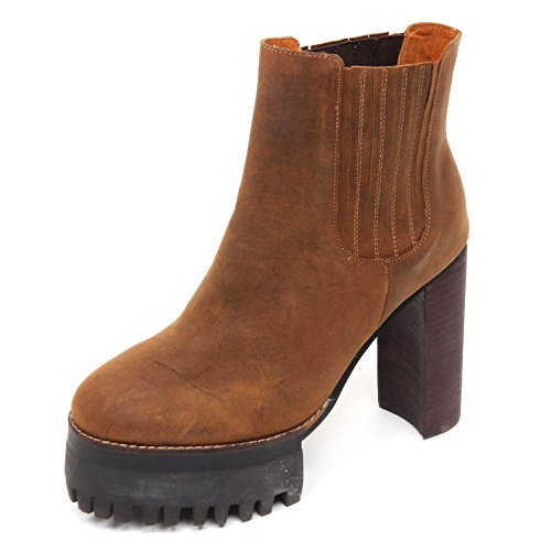 D2246 tronchetto donna JEFFREY CAMPBELL scarpe marrone vintage boot shoe woman Marrone
