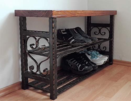 Schuhbank Schuhablage Organizer Schuhregal Eingangsbereich Einheit Kabinett Flur Vintage Sitzbank Schuhtruhe Schuhschrank (Länge 40-150 cm) -