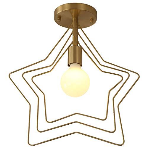 YangMi Leuchter- Nordic Kupfer einfache Persönlichkeit Leuchter Bar Foyer Kleiner Balkon intelligente Messing Kronleuchter (Color : Gold, Size : 34x37cm) - Kleines Foyer Kronleuchter