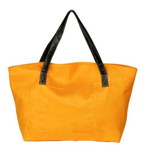 Blancho Sac pour femme à porter à l'épaule Jaune jaune Medium