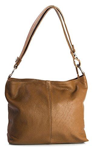 Big Handbag Shop, Borsa a spalla donna One Cannella Marrone