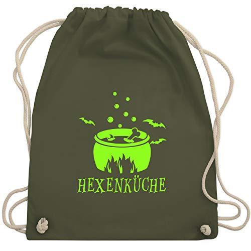 Halloween - Hexenküche - Unisize - Olivgrün - WM110 - Turnbeutel & Gym Bag