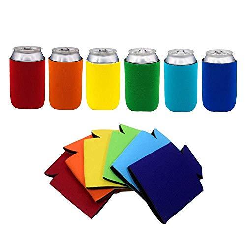 Kaptin Dosenhüllen, mehrfarbig, für Bierdosen und Kartondosen, faltbar, für Hochzeiten, Partys, Veranstaltungen, 12 Stück -