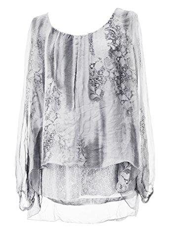 TEXTUREONLINE - Camicia - Stampa animalier -  donna White