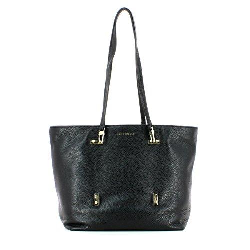 Coccinelle Iggy shopping bag calf leither black NERO
