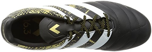adidas Ace 16.3 Tf Lea, Entraînement de football homme Noir (Core Black/Ftwr White/Gold Met)
