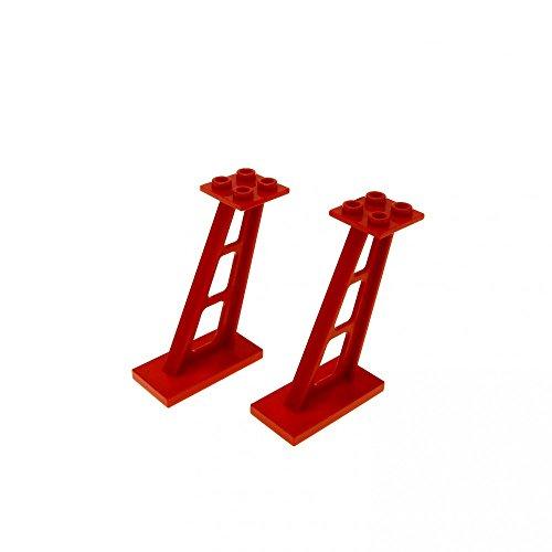Bausteine gebraucht 2 x Lego System Stütze rot 2x4x5 Säule 5mm Pfeiler Träger Leitwerk Alpha Team Launch Command M:Tron 6776 6339 6956 4476b - Command-system