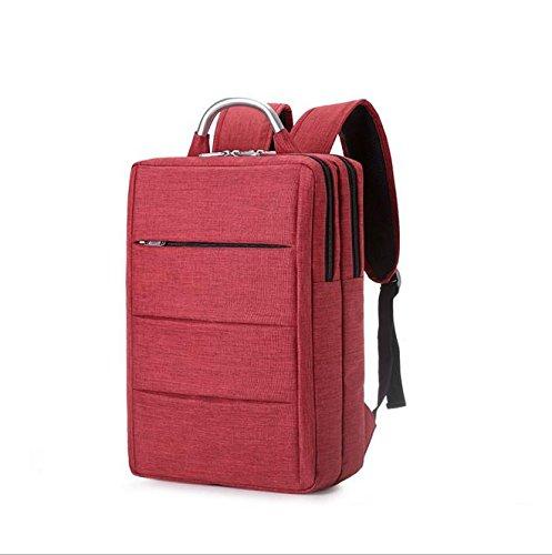 Z&HXComputer Rucksack Laptoptaschen Laptop-Tasche und weise beil?ufige wasserdichte Multifunktions Red