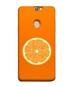 FUSON Designer Back Case Cover for Coolpad Max A8 (Farm Fresh Fruits Lemons Fresh Juicy Orange Slice)